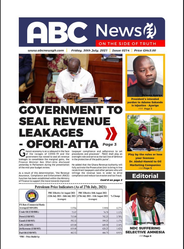 GOV'T TO SEAL REVENUE LEAKAGES – Ofori -Atta