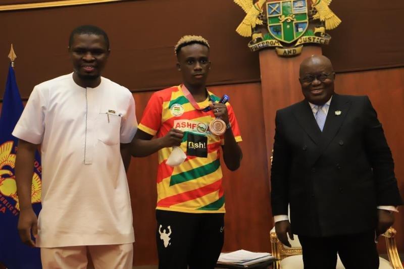 President Akufo-Addo rewards Samuel Takyi with US$30,000 package