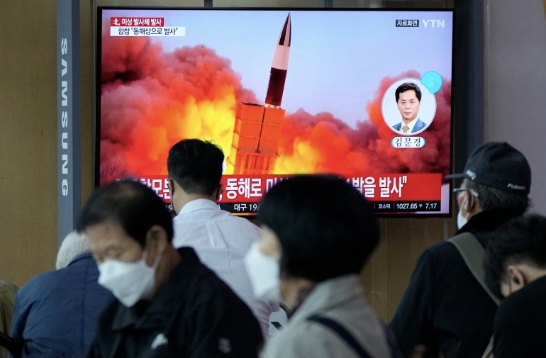 N Korea fires missile, defends weapons tests at UN