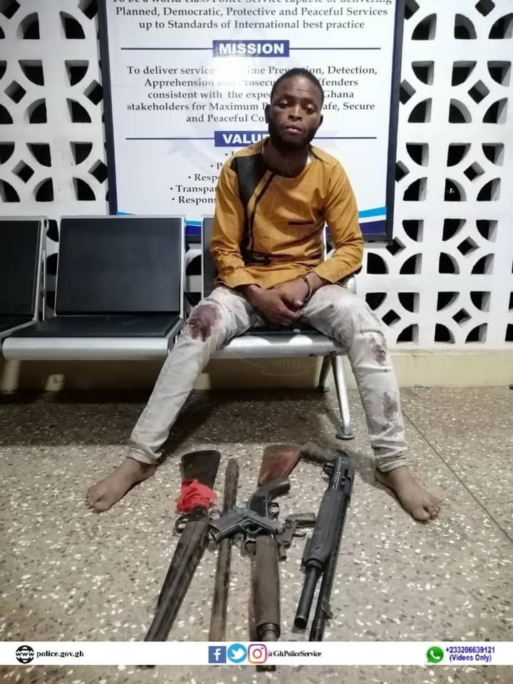 Police Arrest an Armed Robbery and Murder Suspect at Adeiso in the Eastern Region