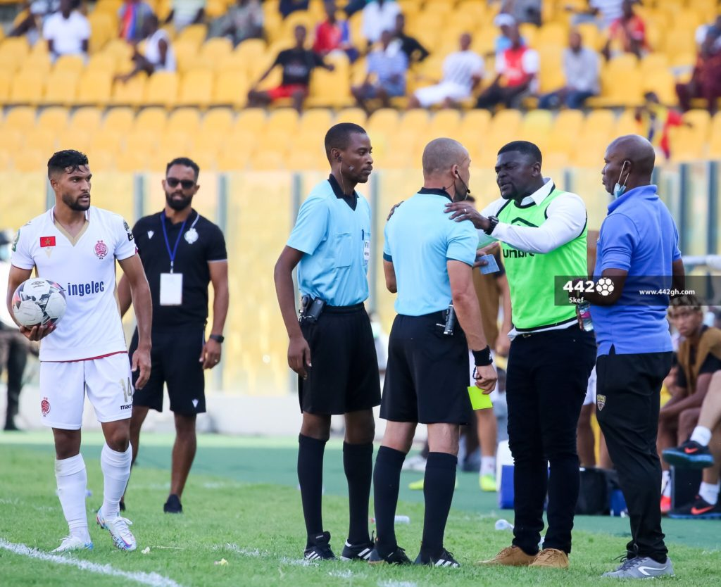 Hearts Of Oak Coach Samuel Boadu Apologises For Yellow Card After Confronting Referee In Wydad Win