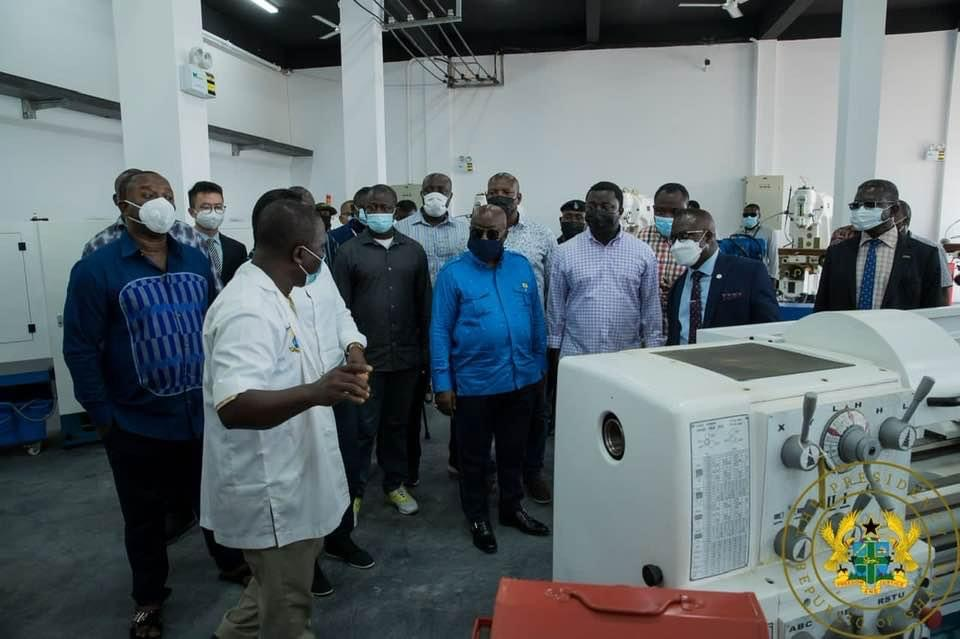 President Akufo-Addo Commissions Engineering Workshops At Cape Coast Technical University